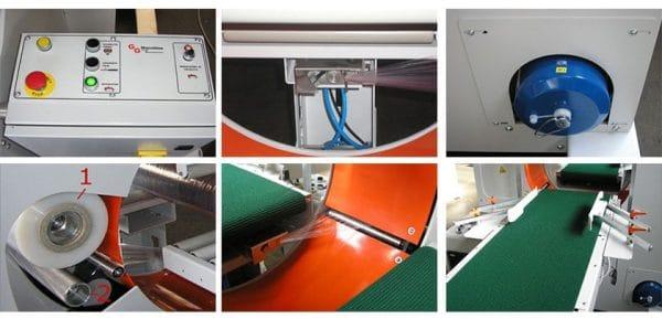 horizontalna mašina sa panelom i postoljem